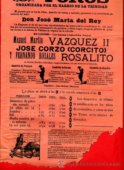 Carteles Toros: CARTEL TOROS, PLAZA SEVILLA , 1911 , ORIGINAL , M458 - Foto 2 - 41492539