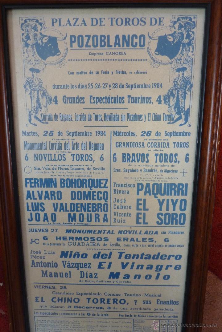 Carteles Toros: CARTEL DE TOROS POZOBLANCO COGIDA DE PAQUIRRI, AUTENTICO - Foto 3 - 41498951