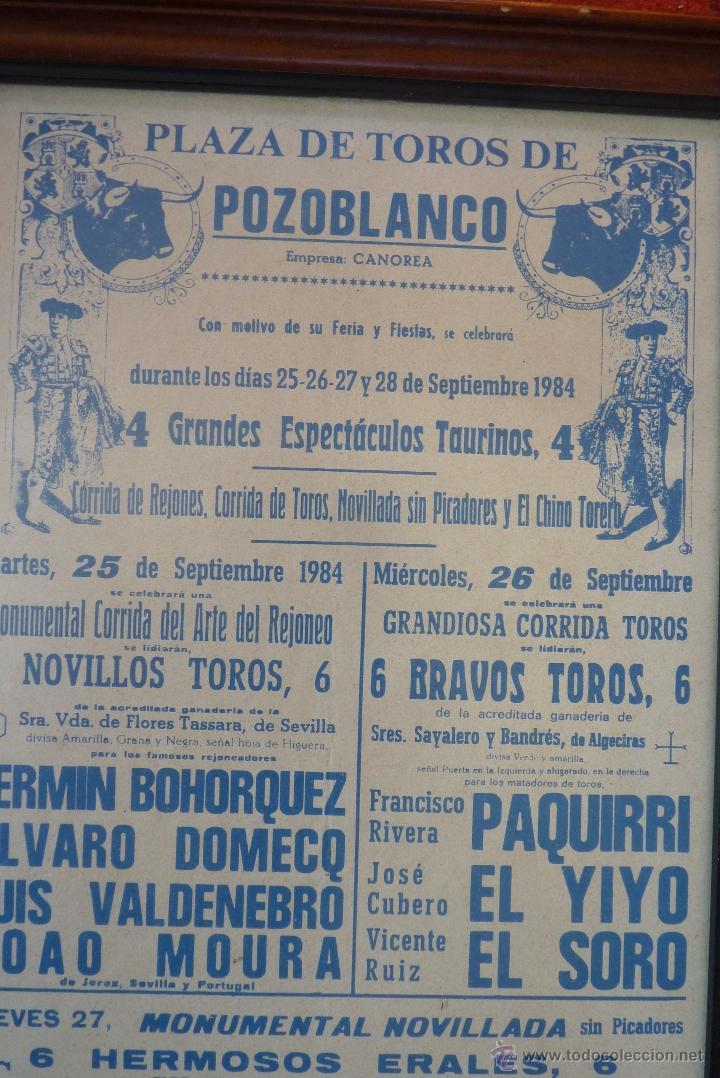 Carteles Toros: CARTEL DE TOROS POZOBLANCO COGIDA DE PAQUIRRI, AUTENTICO - Foto 5 - 41498951
