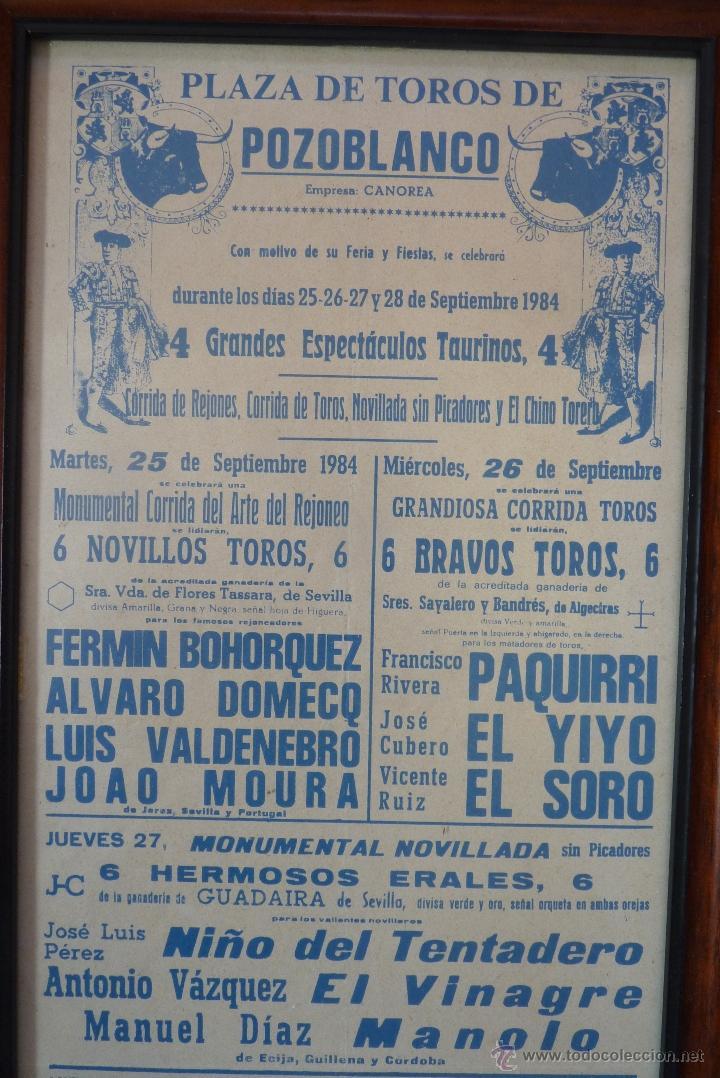 Carteles Toros: CARTEL DE TOROS POZOBLANCO COGIDA DE PAQUIRRI, AUTENTICO - Foto 6 - 41498951