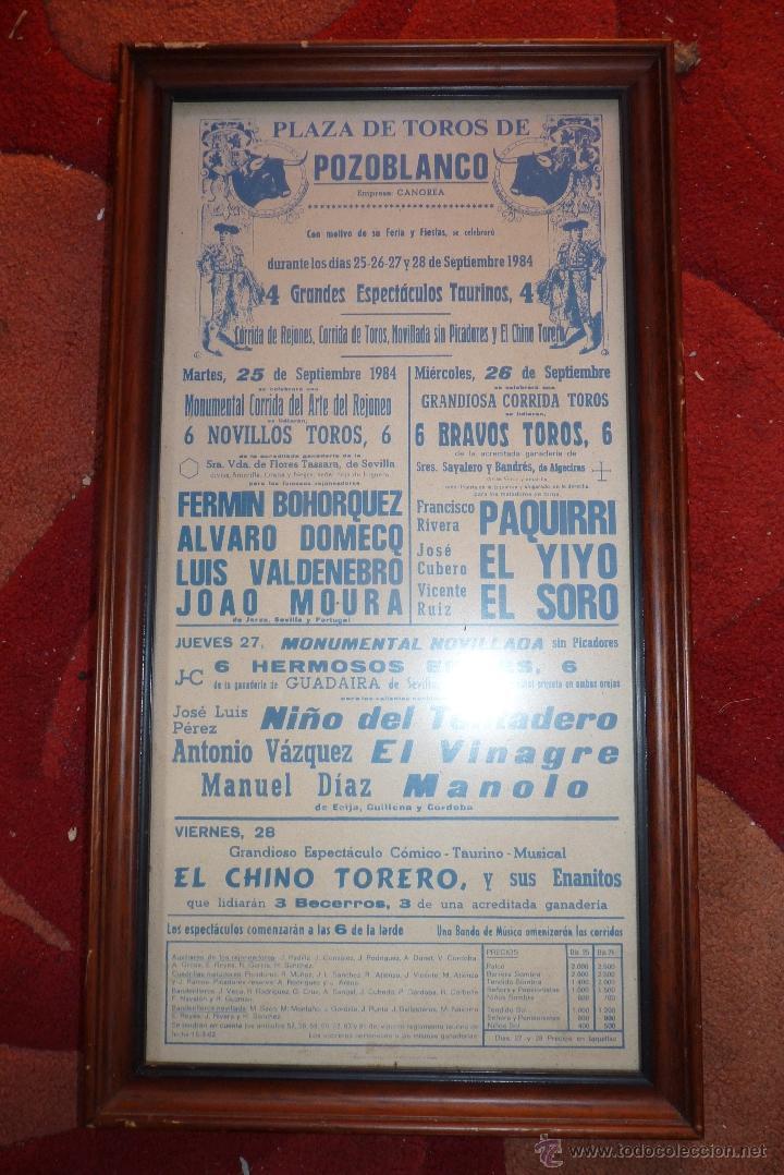 Carteles Toros: CARTEL DE TOROS POZOBLANCO COGIDA DE PAQUIRRI, AUTENTICO - Foto 7 - 41498951