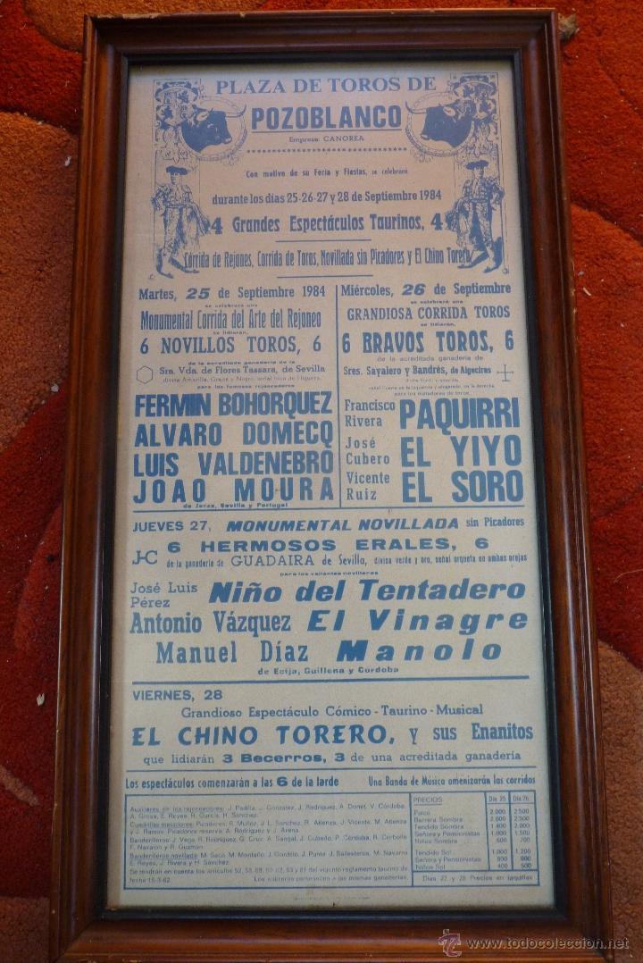 Carteles Toros: CARTEL DE TOROS POZOBLANCO COGIDA DE PAQUIRRI, AUTENTICO - Foto 8 - 41498951