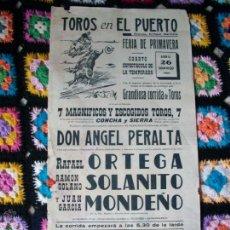 Carteles Toros: CARTEL TOROS EN EL PUERTO 1959. Lote 42028061