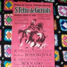 Carteles Toros: PLAZA DE TOROS SAN FELIU DE GUIXOLS 1963. Lote 42028404