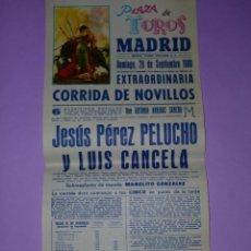 Carteles Toros: PLAZA DE TOROS MADRID 28 DE SEPTIEMBRE DE 1980. Lote 42515020