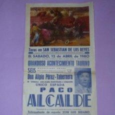 Carteles Toros: PLAZA DE TOROS DE MADRID. 12 DE ABRIL DE 1980. Lote 42531979