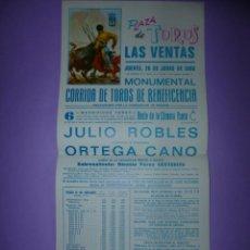 Carteles Toros: PLAZA DE TOROS DE LAS VENTAS. 26 DE JUNIO DE 1986. Lote 42533251