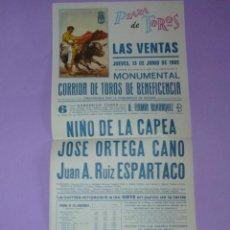 Carteles Toros: PLAZA DE TOROS DE LAS VENTAS. 13 DE JUNIO DE 1985. Lote 42533253