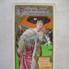 Carteles Toros: PLAZA DE TOROS DE VALENCIA,1910.TRIPTICO.BOMBITA Y GALLITO.T051. Lote 43049406