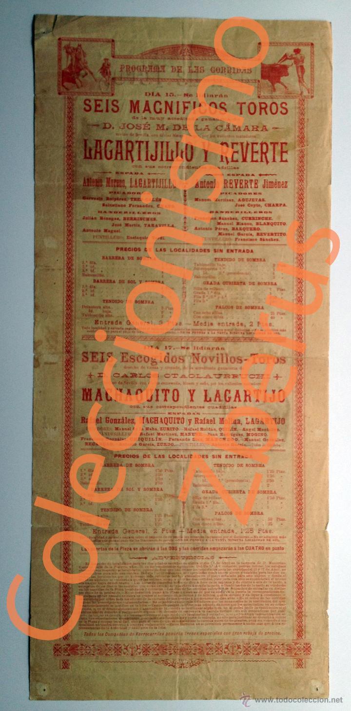 Carteles Toros: Plaza de Toros de Murcia - Corridas Extraordinarias Abril de 1900 - Machaquito, Lagartijo, Reverte - Foto 5 - 42708105