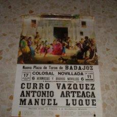 Carteles Toros: CARTEL DE TOROS PLAZA DE BADAJOZ, 1968. Lote 44724450