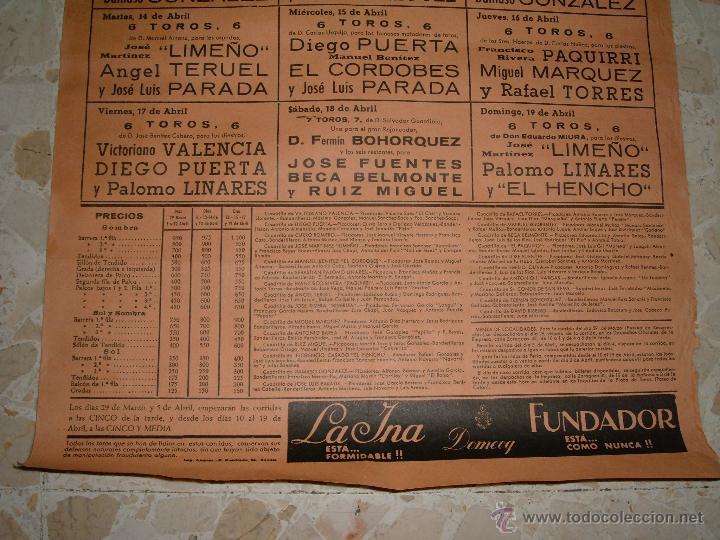 Carteles Toros: CARTEL DE TOROS PLAZA DE SEVILLA, 1970 - Foto 3 - 44727551