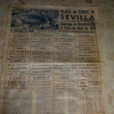 Carteles Toros: CARTEL DE TOROS PLAZA DE SEVILLA, 1978. Lote 44727606