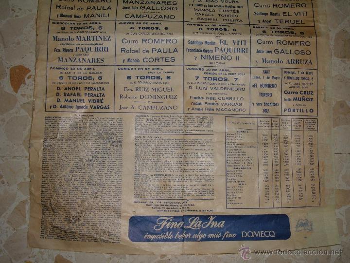 Carteles Toros: CARTEL DE TOROS PLAZA DE SEVILLA, 1978 - Foto 3 - 44727606