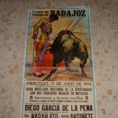 Carteles Toros: CARTEL DE TOROS PLAZA DE BADAJOZ, 1974. Lote 44789014