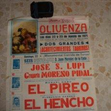 Carteles Toros: CARTEL DE TOROS PLAZA DE OLIVENZA, 1971. Lote 44789239