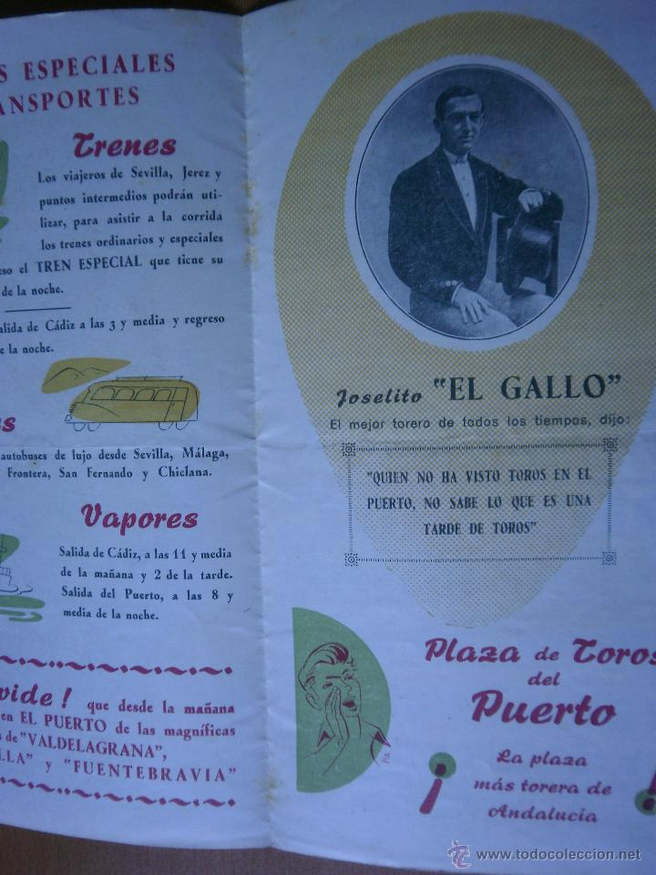 Carteles Toros: Programa toros en el Puerto 1958 - Foto 2 - 45018962