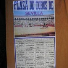 Carteles Toros: CARTEL DE TOROS SEVILLA 1970. Lote 45108134