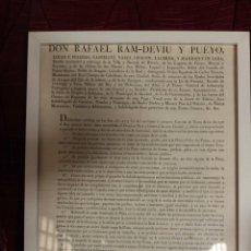 Carteles Toros: 1828 CARTEL CORRIDA DE TOROS. BARÓN DE HERVÉS. VALENCIA. RARO, ÚNICO.. Lote 45109674