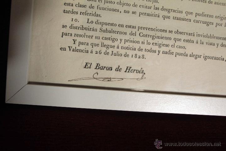 Carteles Toros: 1828 CARTEL CORRIDA DE TOROS. Barón de Hervés. Valencia. RARO, ÚNICO. - Foto 4 - 45109674