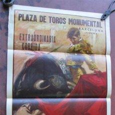 Carteles Toros: PLAZA DE TOROS MONUMENTAL -- AÑO 1964. Lote 45539176