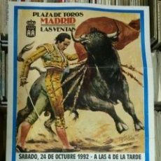 Carteles Toros: CARTEL PLAZA DE TOROS MADRID LAS VENTAS - GRAN FESTIVAL TAURINO CON PICADORES HOMENAJE A JULIO ROBL. Lote 140965648