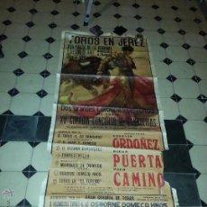Carteles Toros: GRAN CARTEL TOROS MURAL JEREZ 1969 X CORRIDA CONCURSO GANADERIAS, ORDOÑEZ PUERTA CAMINO PAQUIRRI. Lote 46046783