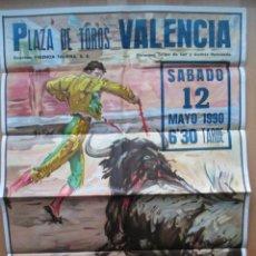 Carteles Toros: CARTEL TOROS GRANDE, PLAZA VALENCIA, GRANDIOSA CORRIDA MIXTA, 12 MAYO 1990, REUS, CT16. Lote 113955847