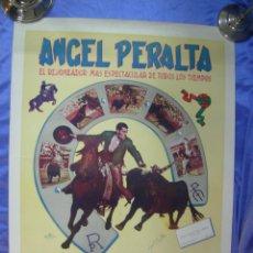 Carteles Toros: CARTEL DE TOROS. ÁNGEL PERALTA. RESUMEN ESTADÍSTICO CORRIDAS TOREADAS TEMPORADA 1953, FIRMA ORIGINAL. Lote 46145577
