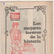 Carteles Toros: ENCICLOPEDIA TAURINA DE EL ALCÁZAR, TODO SOBRE LA FIESTA: LOS MEJORES TOREROS, EL TORO, REGLAMENTO. Lote 46295915