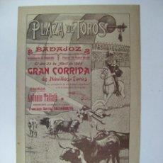 Carteles Toros: CARTEL TOROS BADAJOZ AÑO 1905. Lote 27416972