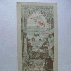 Carteles Toros: PLAZA DE TOROS DE VALENCIA.16 DE MAYO DE 1909.GORDET,FLORES Y DOMINGUIN.T-124. Lote 46345978