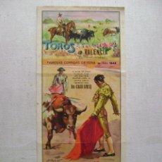 Carteles Toros: TOROS EN VALENCIA.1948.T-137. Lote 46356796