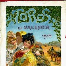 Carteles Toros: CARTEL TOROS , PLAZA VALENCIA 1910 ,AUTOMOVIL , BOMBITA MACHAQUITO GALLO , ORIGINAL , A. Lote 46600470