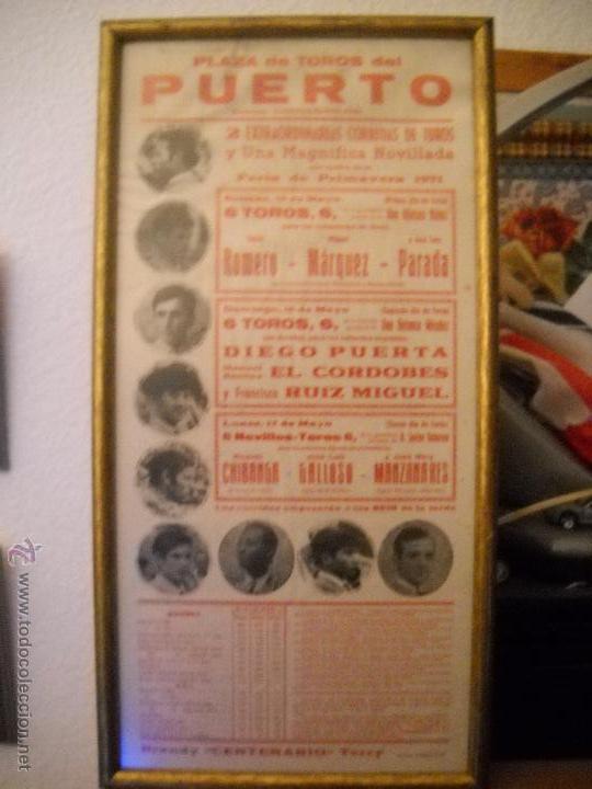 PLAZA DE TOROS DEL PUERTO, 2 CORRIDAS DE TOROS Y UNA NOVILLADA,FERIA PRIMAVERA 1971,ESPECTACULAR. (Coleccionismo - Carteles Gran Formato - Carteles Toros)