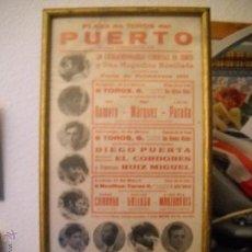 Carteles Toros: PLAZA DE TOROS DEL PUERTO, 2 CORRIDAS DE TOROS Y UNA NOVILLADA,FERIA PRIMAVERA 1971,ESPECTACULAR.. Lote 46622628