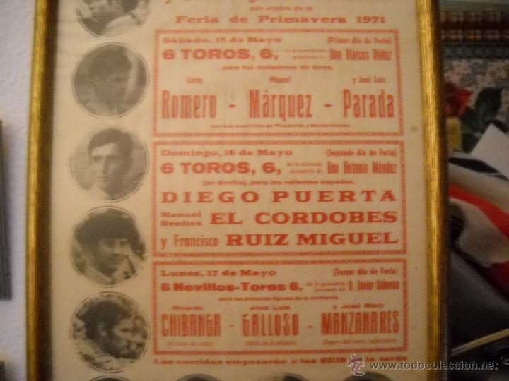 Carteles Toros: PLAZA DE TOROS DEL PUERTO, 2 CORRIDAS DE TOROS Y UNA NOVILLADA,FERIA PRIMAVERA 1971,ESPECTACULAR. - Foto 2 - 46622628