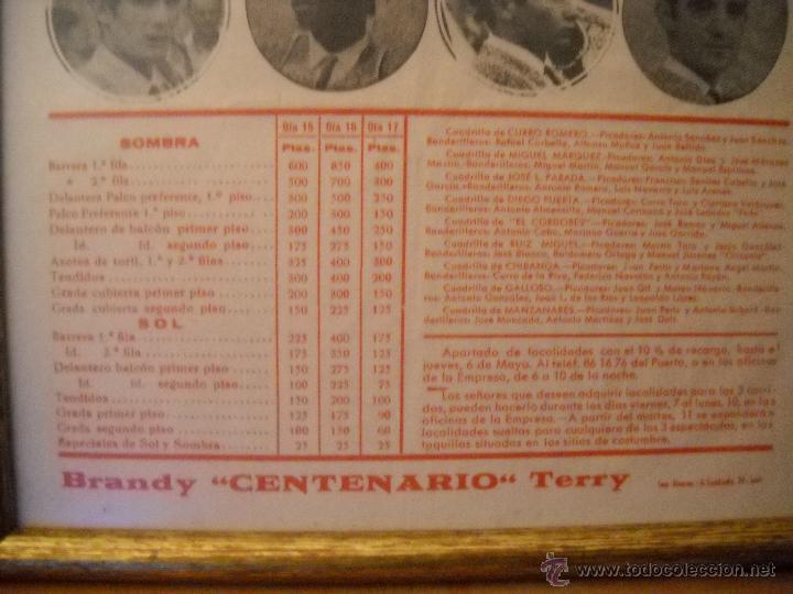 Carteles Toros: PLAZA DE TOROS DEL PUERTO, 2 CORRIDAS DE TOROS Y UNA NOVILLADA,FERIA PRIMAVERA 1971,ESPECTACULAR. - Foto 3 - 46622628