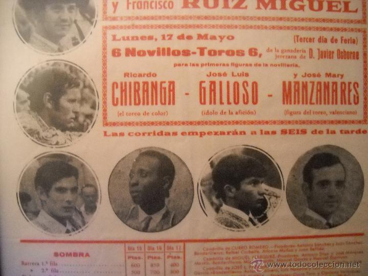 Carteles Toros: PLAZA DE TOROS DEL PUERTO, 2 CORRIDAS DE TOROS Y UNA NOVILLADA,FERIA PRIMAVERA 1971,ESPECTACULAR. - Foto 4 - 46622628
