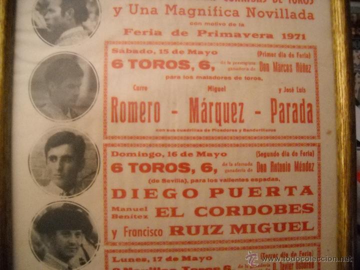 Carteles Toros: PLAZA DE TOROS DEL PUERTO, 2 CORRIDAS DE TOROS Y UNA NOVILLADA,FERIA PRIMAVERA 1971,ESPECTACULAR. - Foto 5 - 46622628