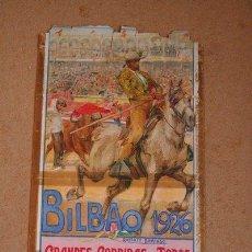 Carteles Toros: CARTEL DE TOROS DE BILBAO 1926. CHICUELO, VALENCIA II, ANTONIO MÁRQUEZ, NICANOR VILLALTA, ETC.. Lote 46694377