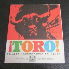 Carteles Toros: TARJETA PEDIDO TAUROMAQUIA ¡ TORO !. EDITORIAL CODEX. Lote 46977642