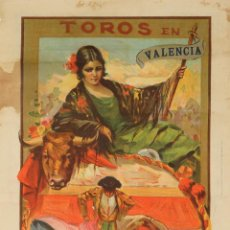 Carteles Toros: TOROS VALENCIA, RUANO LLOPIS, AÑO 1926.. Lote 47039540