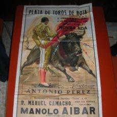 Carteles Toros: PLAZA DE TOROS DE ROTA.NOVILLADA.MANOLO AIBAR-RAFAEL LOZANO-ANTONIO PEREZ.AÑO 1964. Lote 47292353