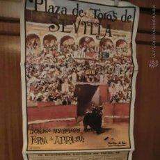 Carteles Toros: CARTEL DE TOROS MAESTRANZA DE SEVILLA AÑO 1972 CURRO ROMERO Y OTROS. Lote 47915218