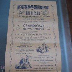 Carteles Toros: PLAZA DE TOROS BRIVIESCA. Lote 48305512
