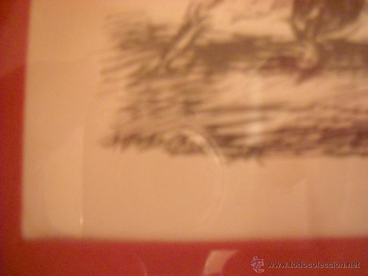 Carteles Toros: dos dibujos taurinos de antonio casero,enmarcados. - Foto 2 - 48389568