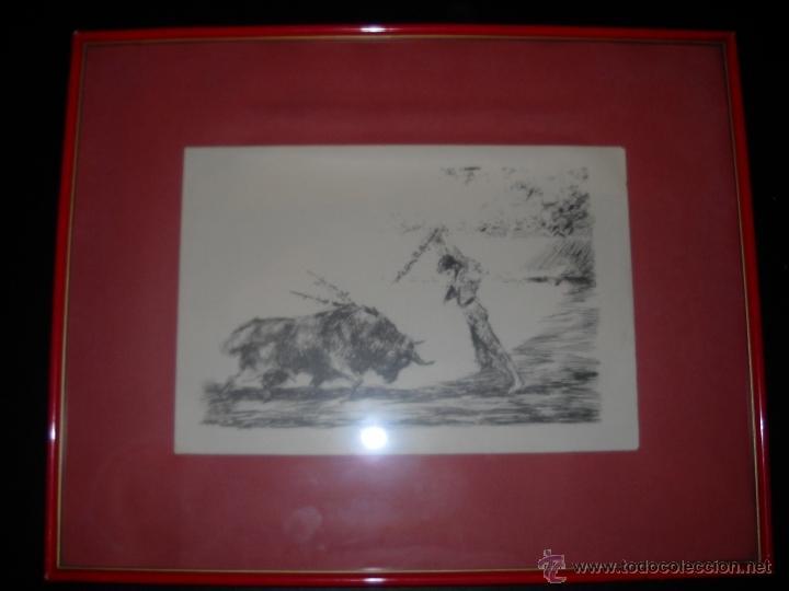 Carteles Toros: dos dibujos taurinos de antonio casero,enmarcados. - Foto 7 - 48389568