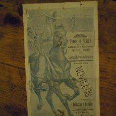 Cartazes Touros: ANTIGUO CARTEL DE TOROS A DOS CARAS DE LA CORRIDA BENÉFICA DEL DOMINGO, 10 DE AGOSTO DE 1902.. Lote 50409781