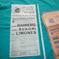 Carteles Toros: ORIGINAL. CARTEL DE TOROS PLAZA VALLADOLID AÑO 1964 BARRERO,SUSONI,LIMONES. Lote 48919317
